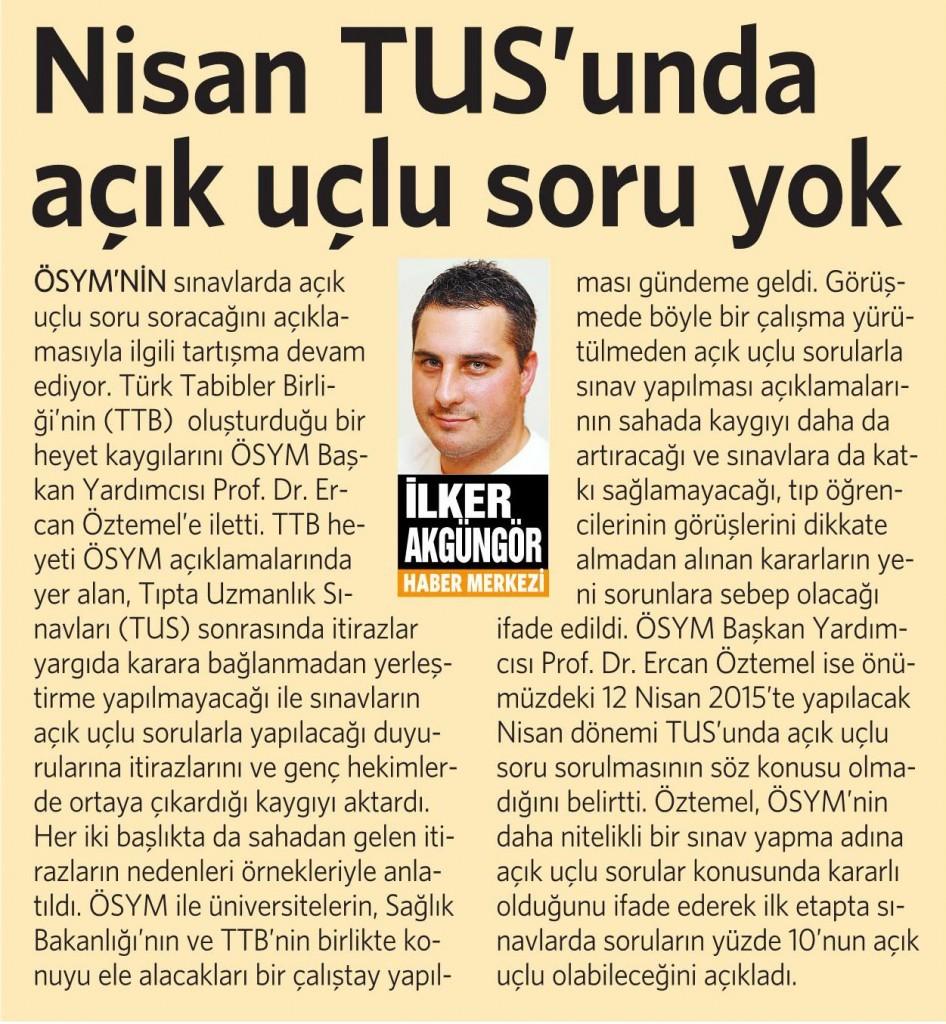 7 Şubat 2015 Vatan Gazetesi 5. sayfa