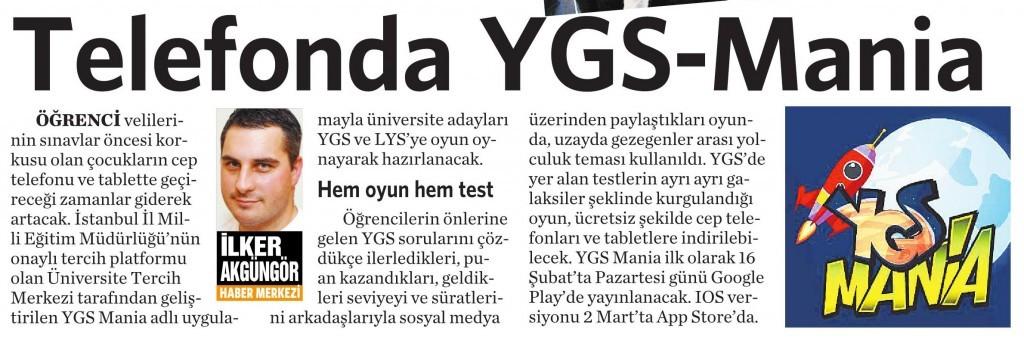 12 Şubat 2015 Vatan Gazetesi 6. sayfa