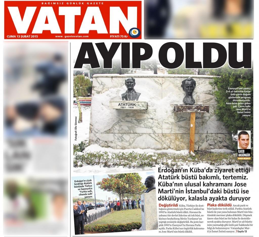 13 Şubat 2015 Vatan Gazetesi
