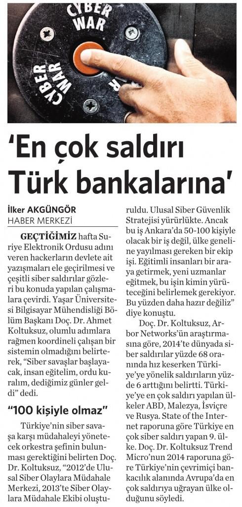 16 Şubat 2015 Vatan Gazetesi 5. sayfa
