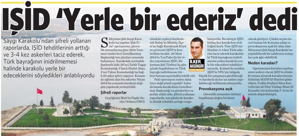 23 Şubat 2015 Vatan Gazetesi 11. sayfa
