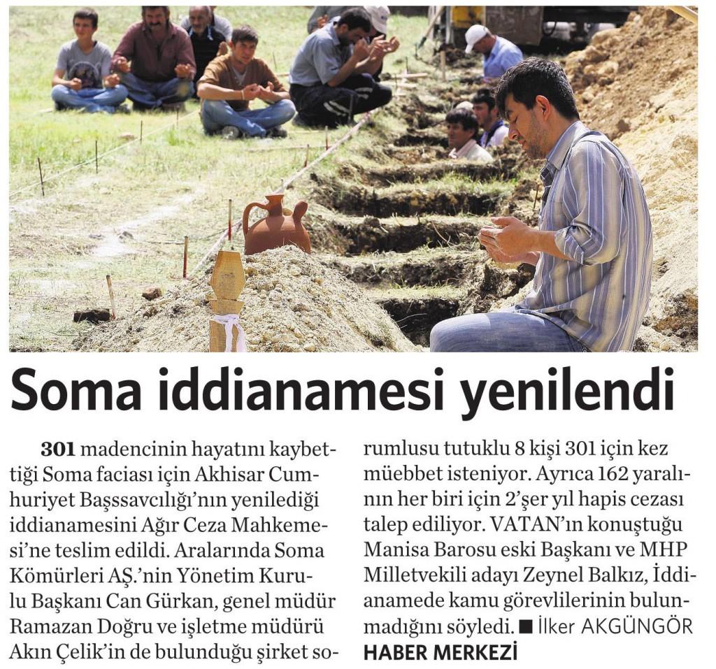27 Şubat 2015 Vatan Gazetesi 6. sayfa