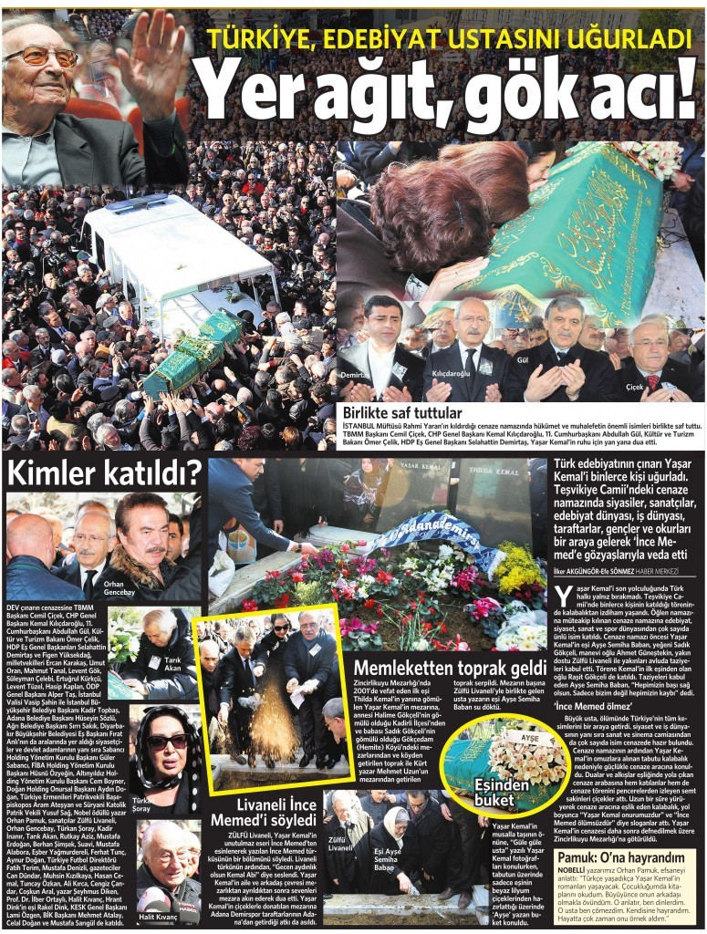3 Mart 2015 Vatan Gazetesi 15. sayfa