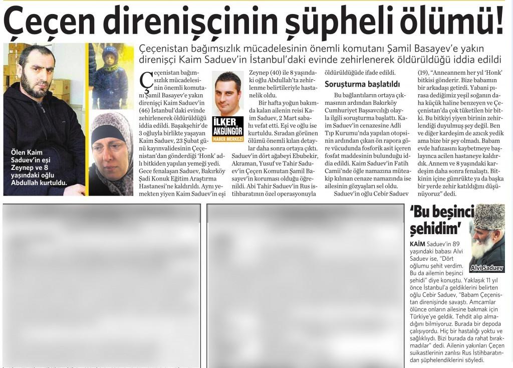 4 Mart 2015 Vatan Gazetesi 17. sayfa