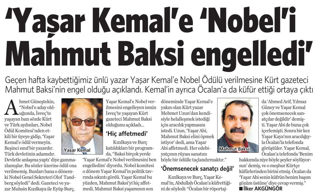 5 Mart 2015 Vatan Gazetesi 11. sayfa