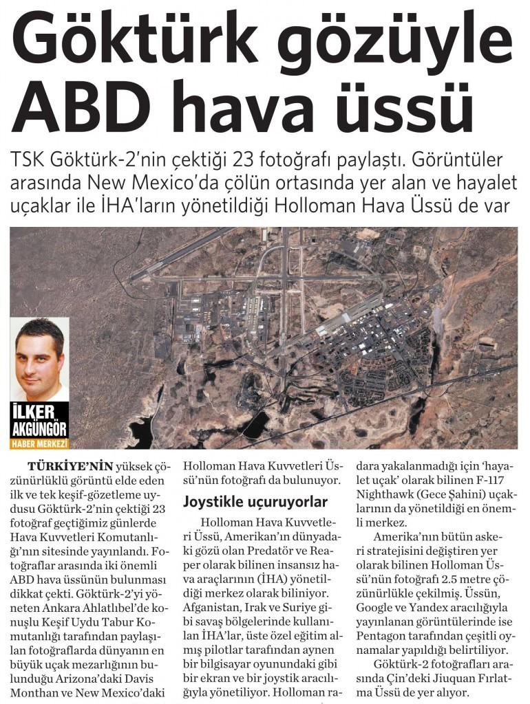 10 Mart 2015 Vatan Gazetesi 16. sayfa