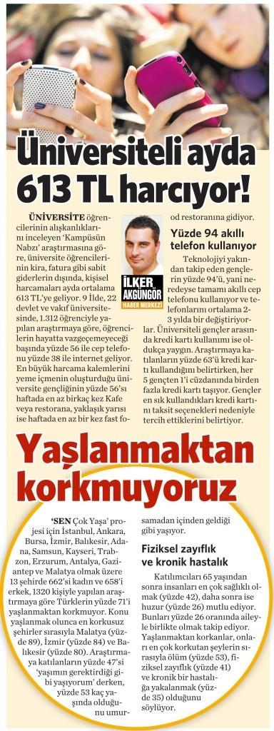 13 Mart 2015 Vatan Gazetesi 4. sayfa