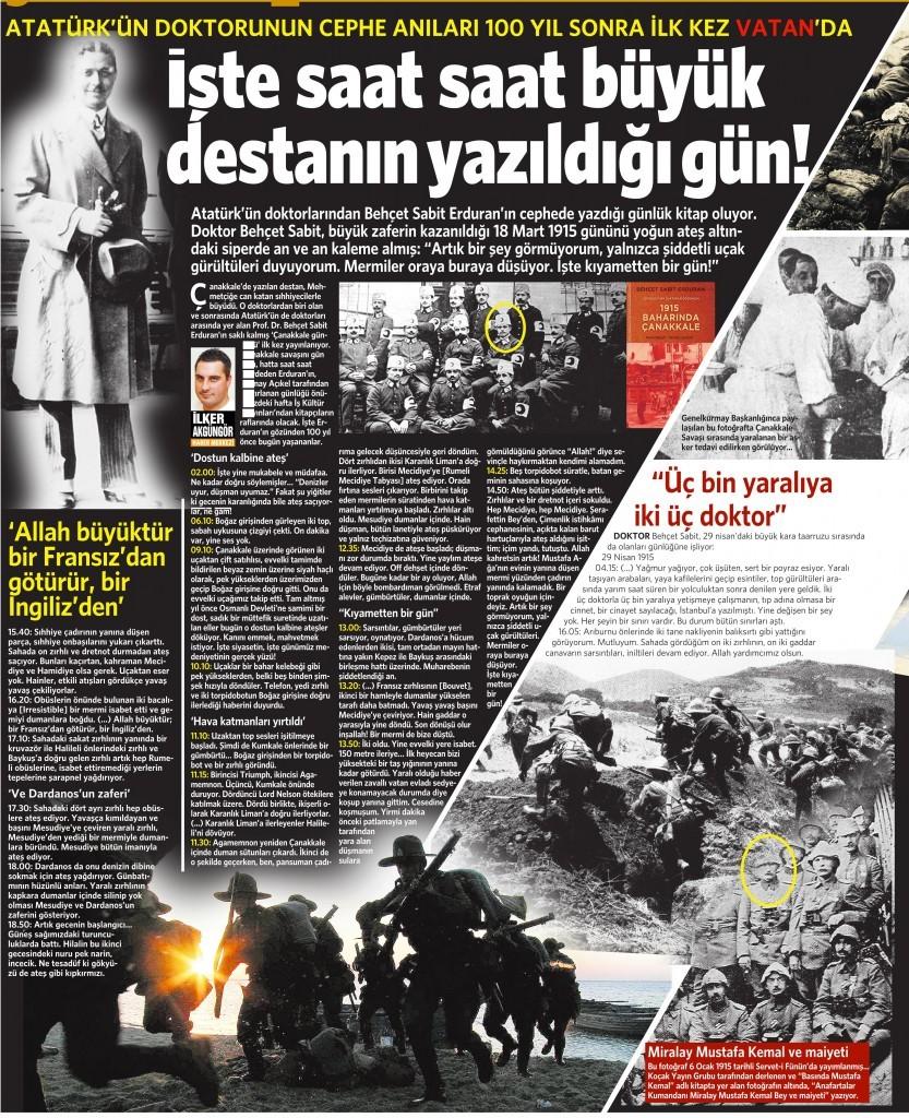 18 Mart 2015 Vatan Gazetesi 12. sayfa