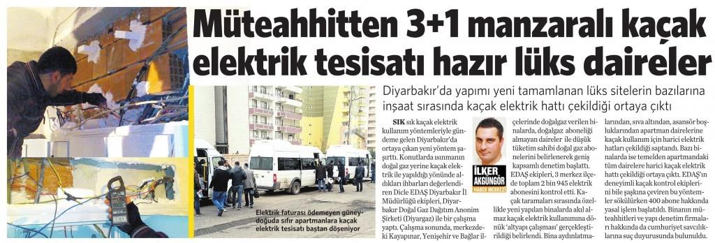30 Mart 2015 Vatan Gazetesi 3. sayfa