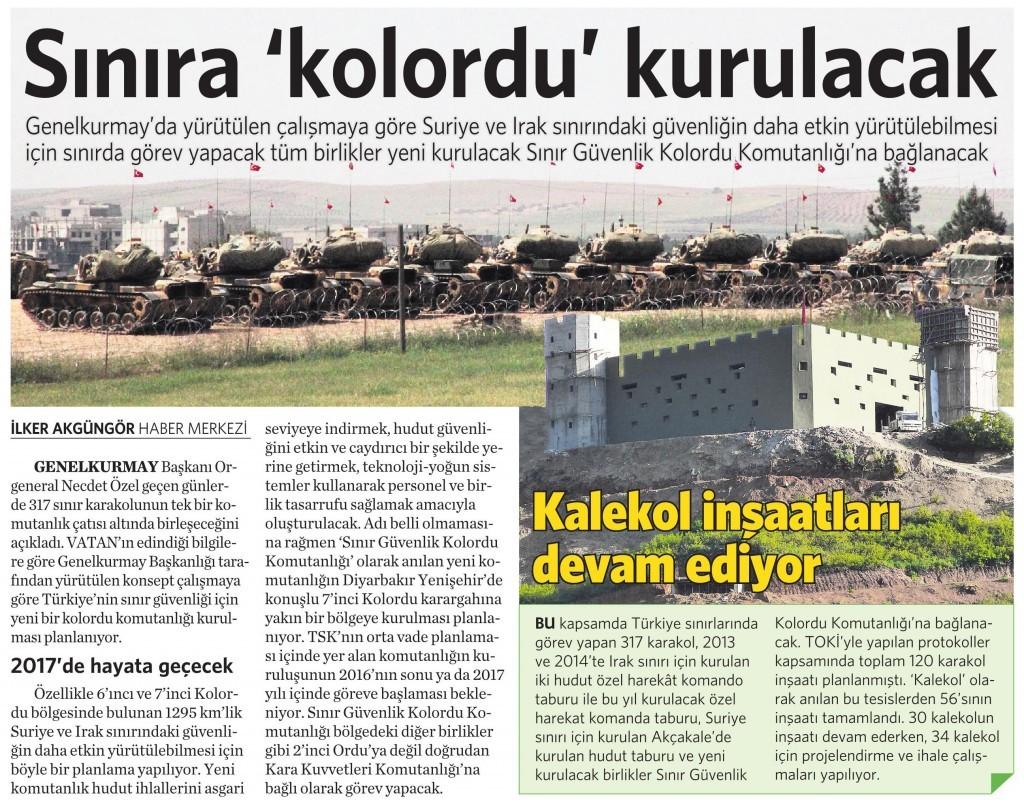 30 Mart 2015 Vatan Gazetesi 17. sayfa