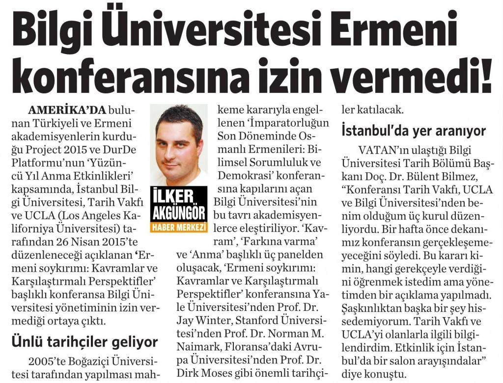 4 Nisan 2015 Vatan Gazetesi 5. sayfa