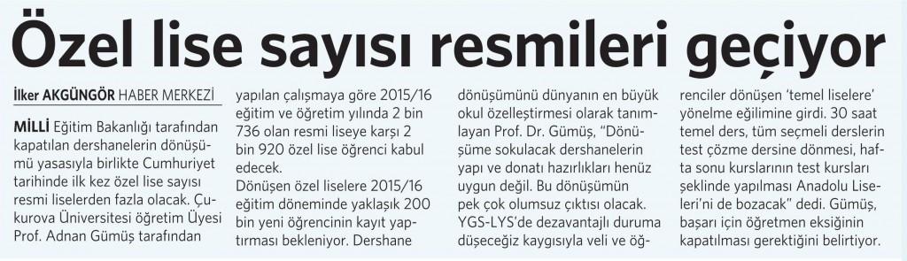 8 Nisan 2015 Vatan Gazetesi 6. sayfa