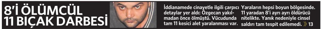 17 Nisan 2015 Vatan Gazetesi 1. sayfa