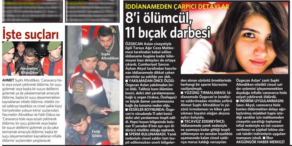 17 Nisan 2015 Vatan Gazetesi 13. sayfa