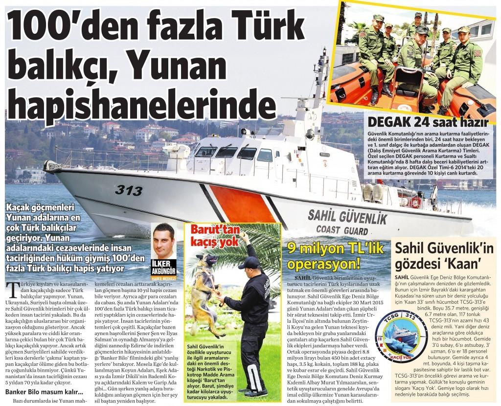 25 Nisan 2015 Vatan Gazetesi 11. sayfa