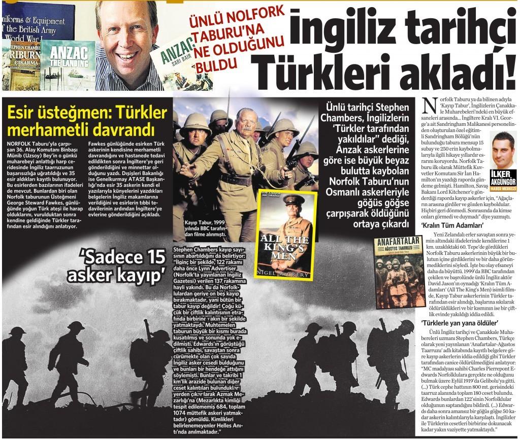 26 Nisan 2015 Vatan Gazetesi 12. sayfa