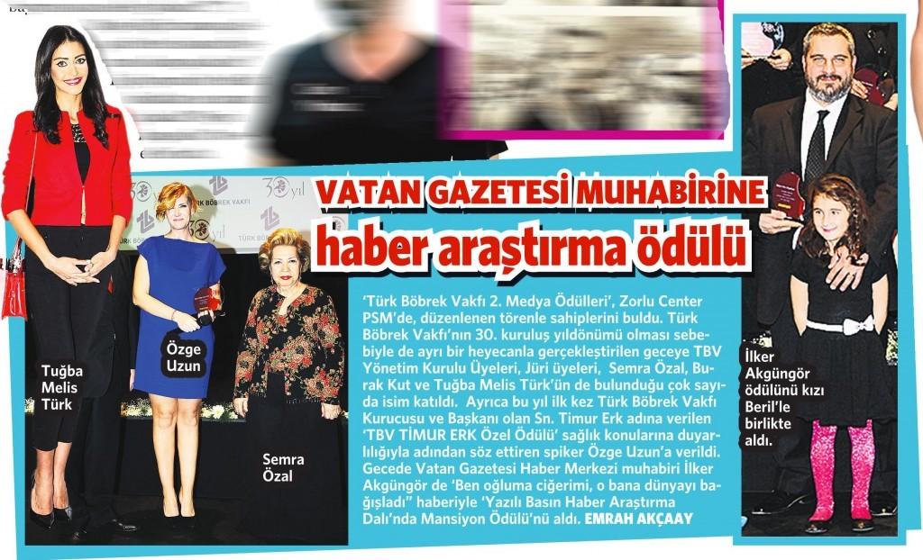 2 Mayıs 2015 Vatan Gazetesi Makaron Eki 2. sayfa