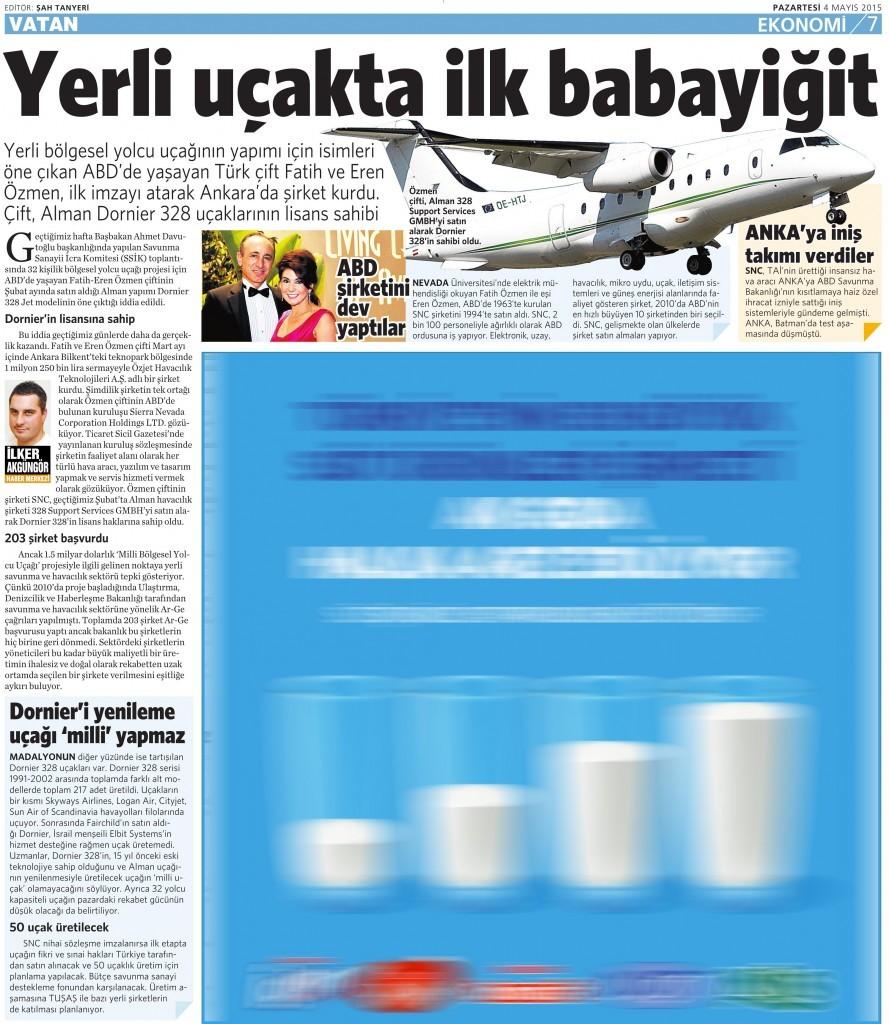 4 Mayıs 2015 Vatan Gazetesi 7. sayfa