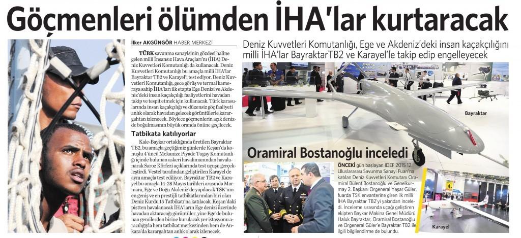 7 Mayıs 2015 Vatan Gazetesi 13. sayfa