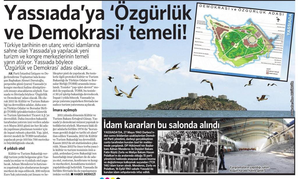 13 Mayıs 2015 Vatan Gazetesi 12. sayfa