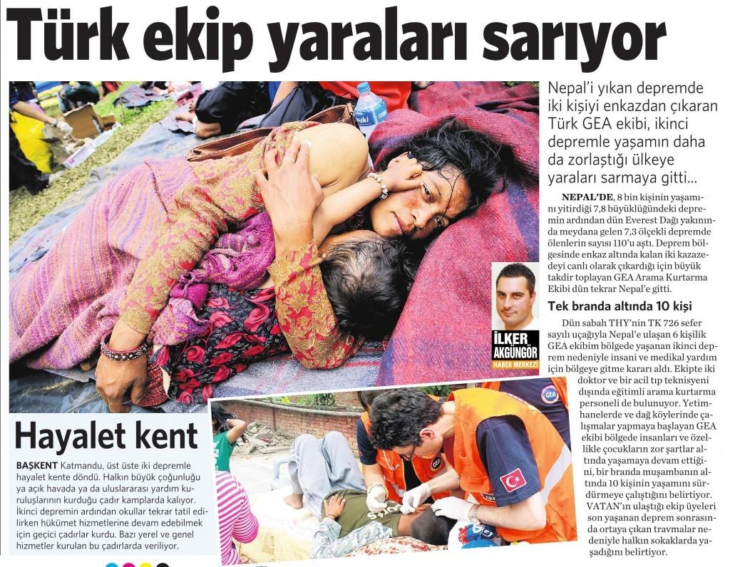 17 Mayıs 2015 Vatan Gazetesi 12. sayfa