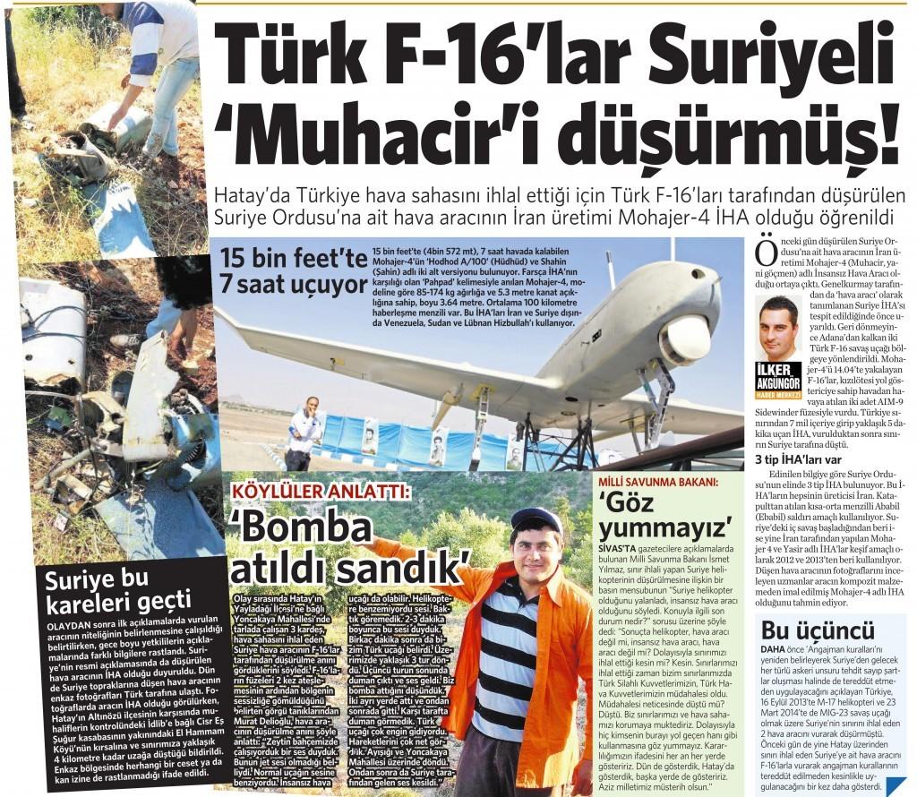 18 Mayıs 2015 Vatan Gazetesi 11. sayfa