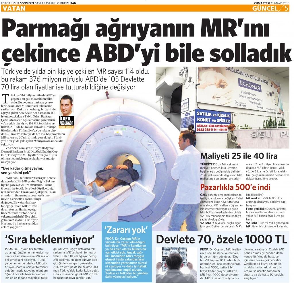 23 Mayıs 2015 Vatan Gazetesi 5. sayfa