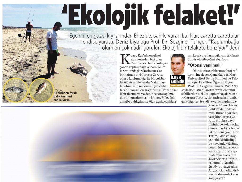27 Mayıs 2015 Vatan Gazetesi 2. sayfa
