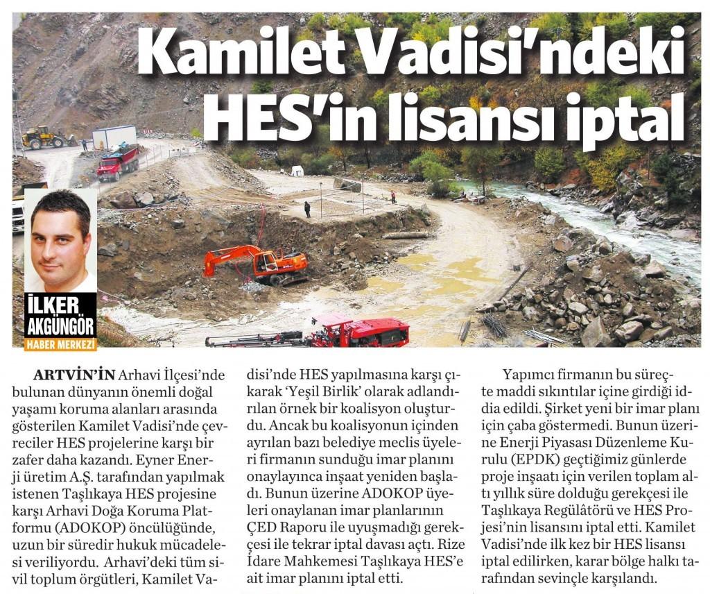 1 Haziran 2015 Vatan Gazetesi 5. sayfa