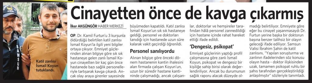 2 Haziran 2015 Vatan Gazetesi 13. sayfa