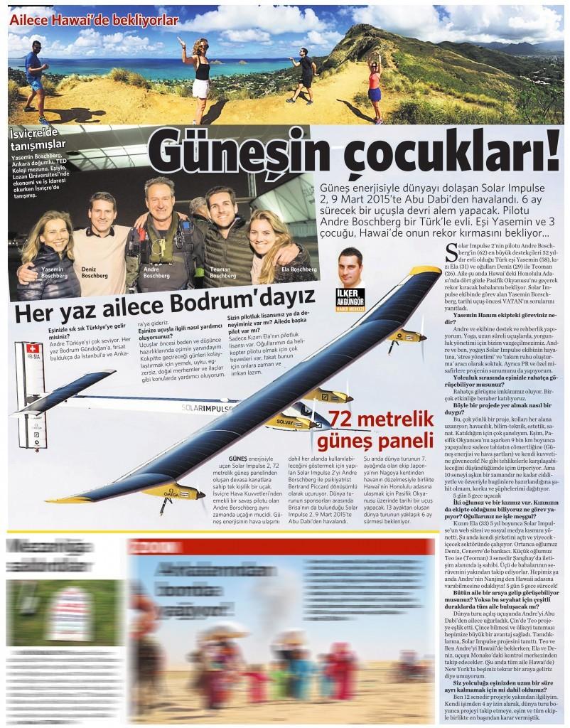 7 Haziran 2015 Vatan Gazetesi 12. sayfa