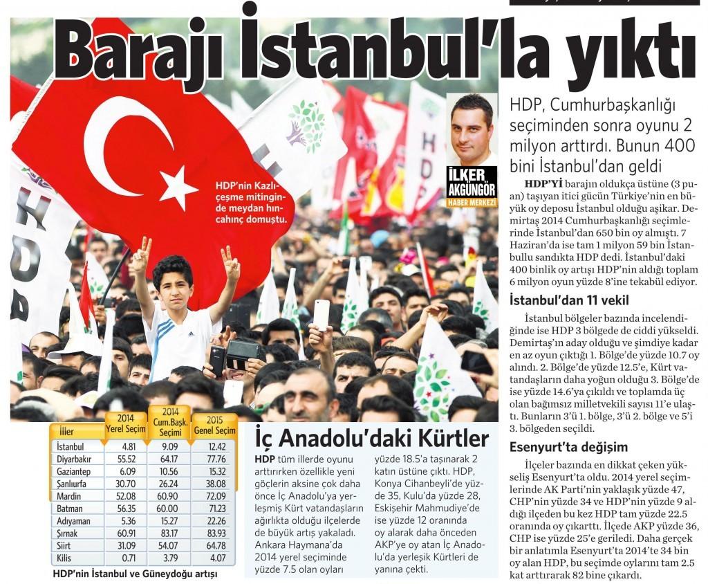 9 Haziran 2015 Vatan Gazetesi 13. sayfa