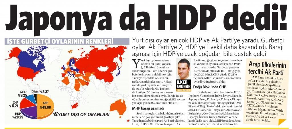 10 Haziran 2015 Vatan Gazetesi 13. sayfa