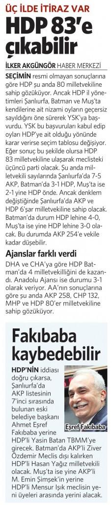 10 Haziran 2015 Vatan Gazetesi 15. sayfa