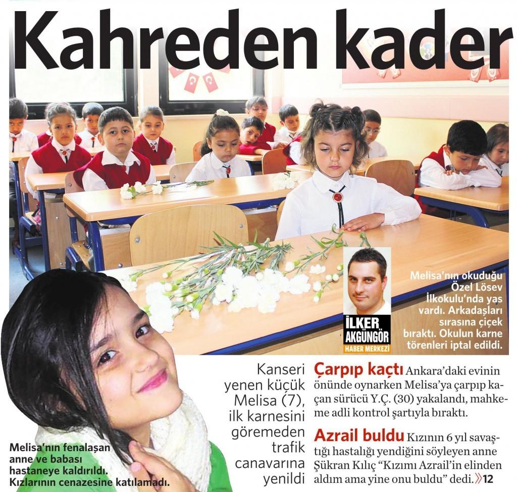 12 Haziran 2015 Vatan Gazetesi 1. sayfa