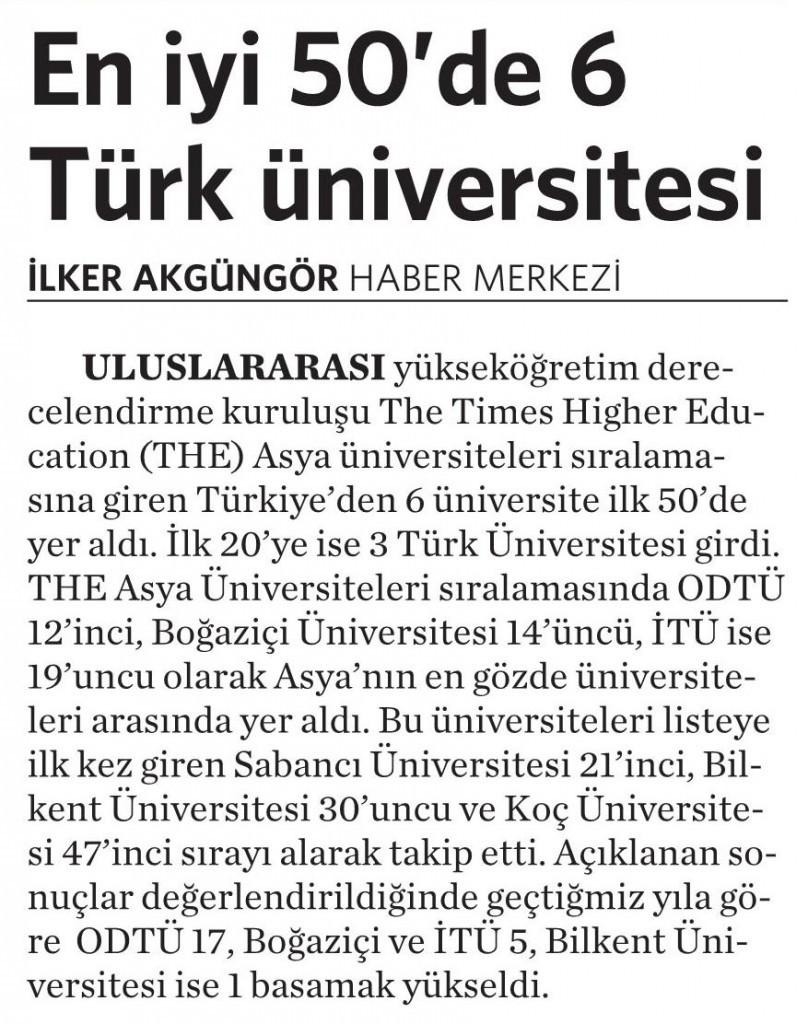 12 Haziran 2015 Vatan Gazetesi 6. sayfa