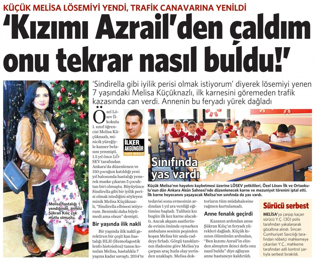 12 Haziran 2015 Vatan Gazetesi 12. sayfa