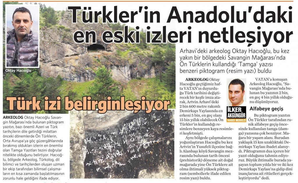 15 Haziran 2015 Vatan Gazetesi 5. sayfa