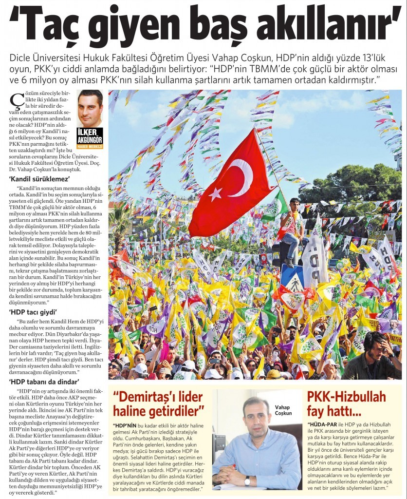 15 Haziran 2015 Vatan Gazetesi 15. sayfa