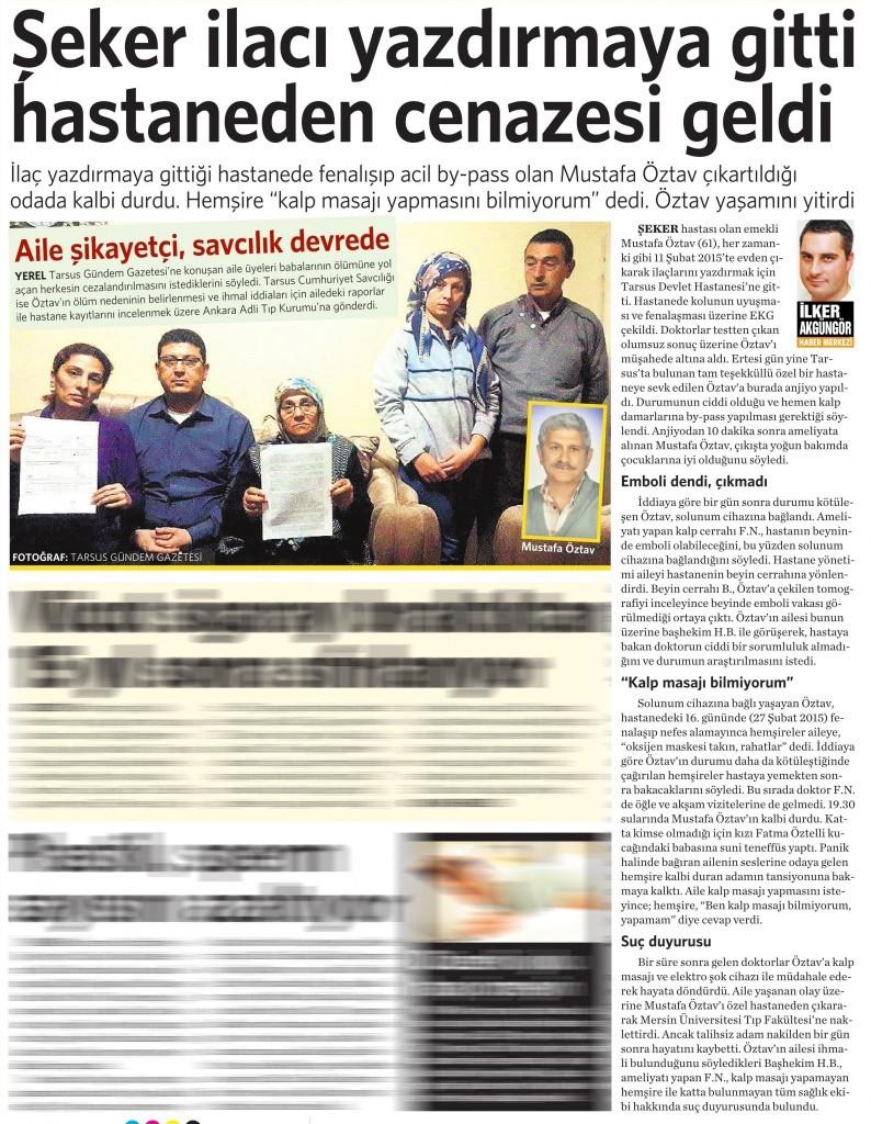 19 Haziran 2015 Vatan Gazetesi 4. sayfa