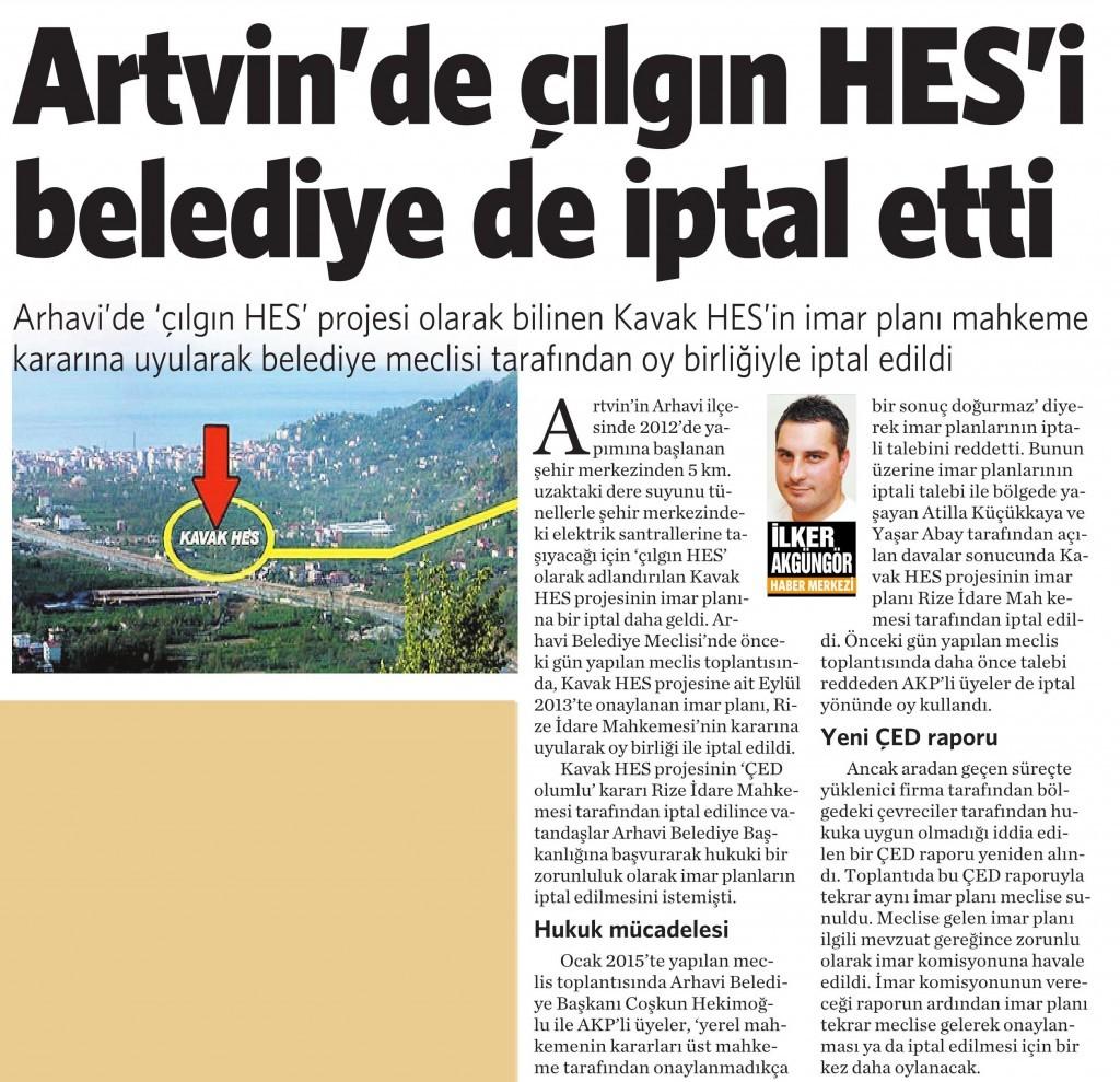 3 Temmuz 2015 Vatan Gazetesi 2. sayfa