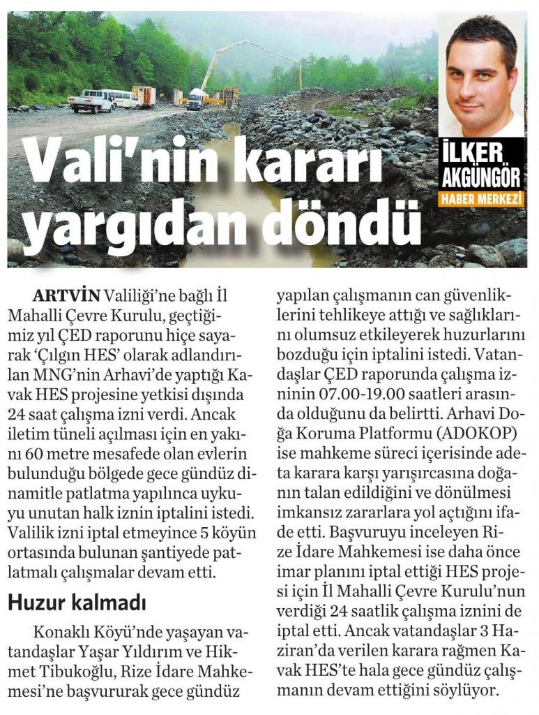7 Temmuz 2015 Vatan Gazetesi 6. sayfa