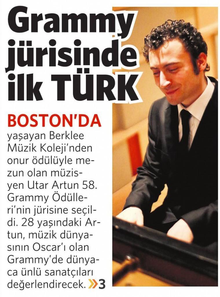 8 Temmuz 2015 Vatan Gazetesi Makaron eki 1. sayfa