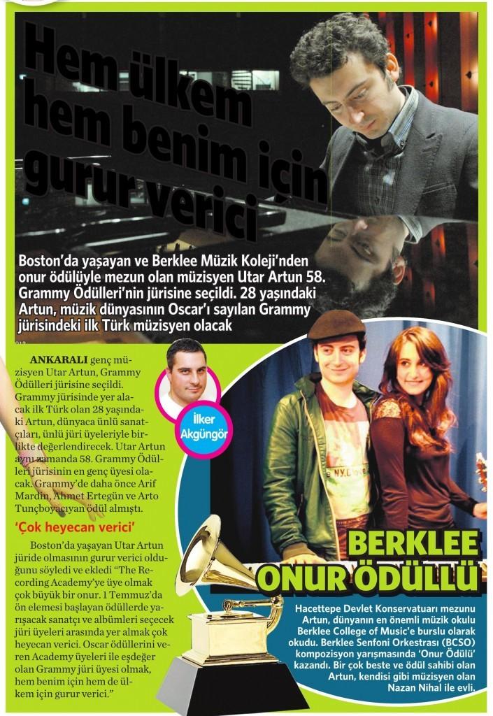 8 Temmuz 2015 Vatan Gazetesi Makaron eki 3. sayfa