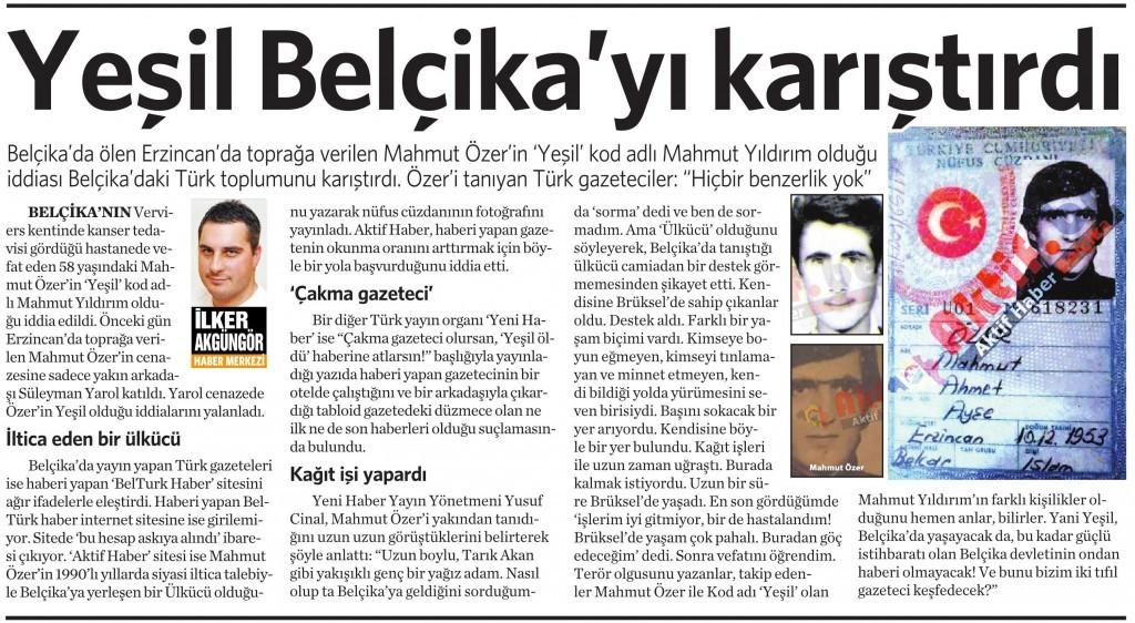 11 Temmuz 2015 Vatan Gazetesi 16. sayfa