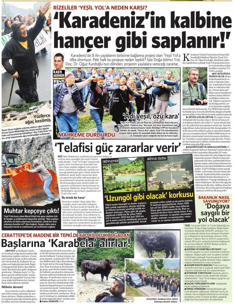 14 Temmuz 2015 Vatan Gazetesi 13. sayfa