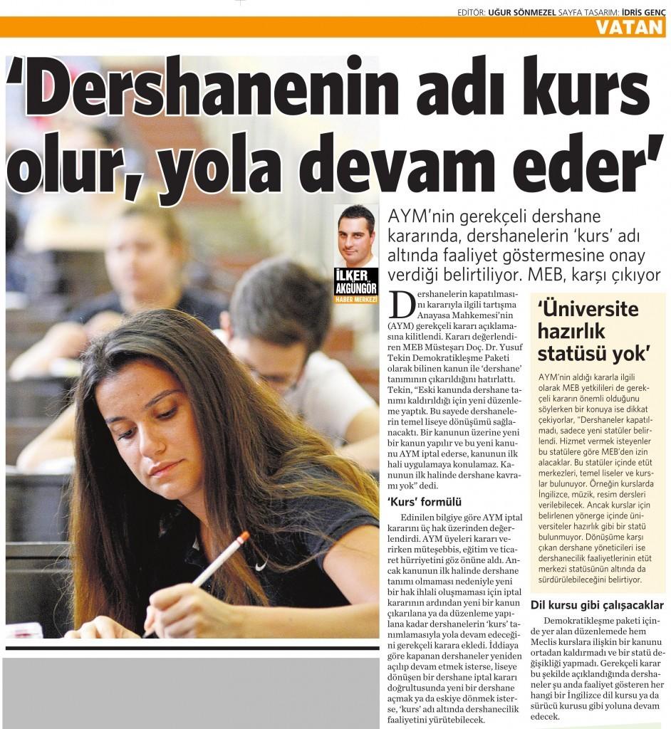 17 Temmuz 2015 Vatan Gazetesi 4. sayfa