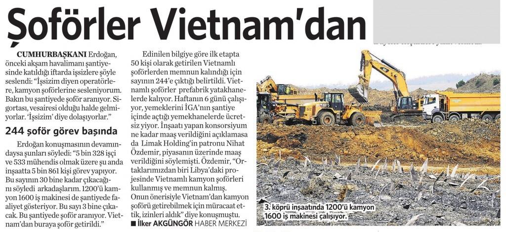 17 Temmuz 2015 Vatan Gazetesi 12. sayfa
