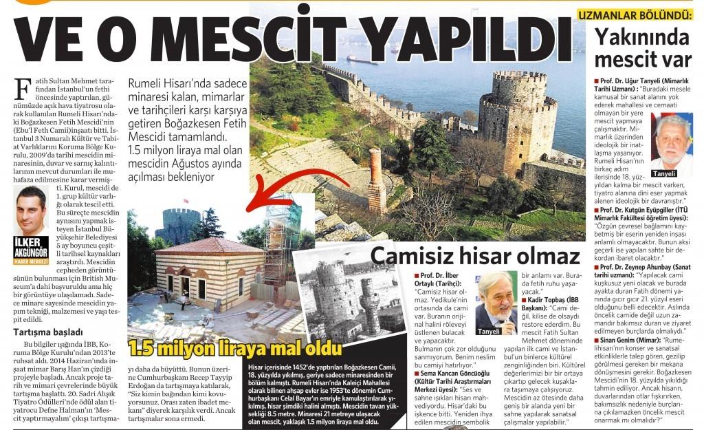 24 Temmuz 2015 Vatan Gazetesi 2. sayfa