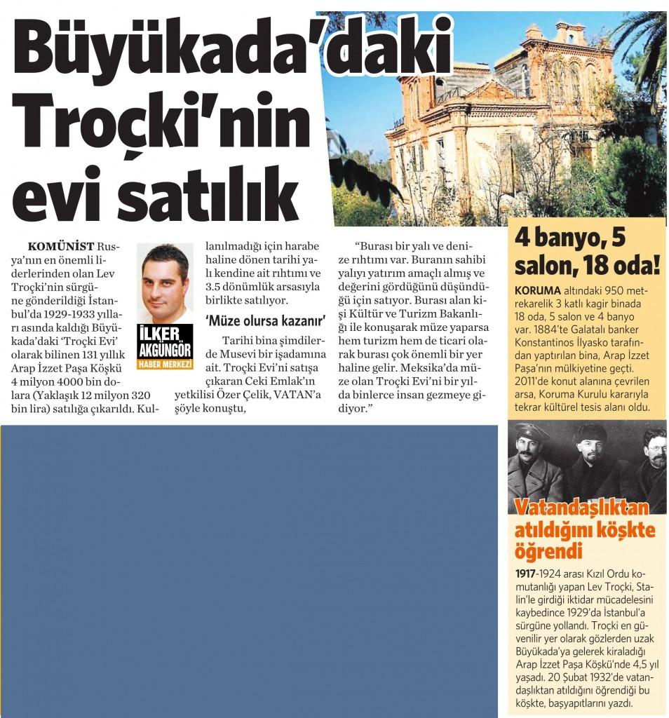 1 Ağustos 2015 Vatan Gazetesi 3. sayfa